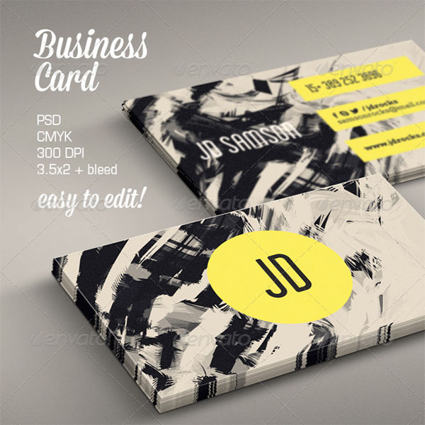 Retro Artistic Business Card