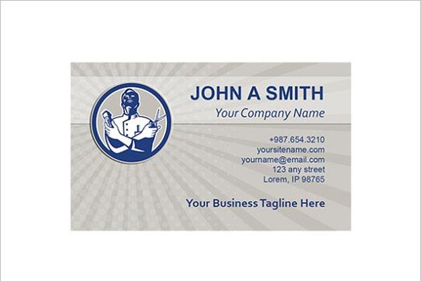 RetroBarber Business Card Template
