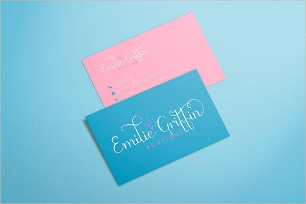Retro Boutique Business Card Design