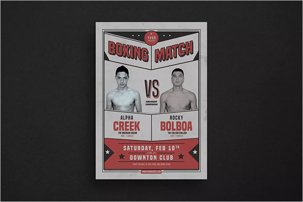 Retro Boxing Match Flyer