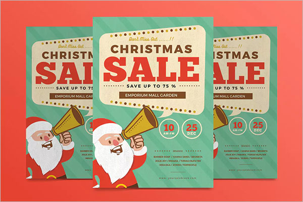 Retro Christmas Flyer Template