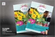 Retro Flower Shop Flyer Design