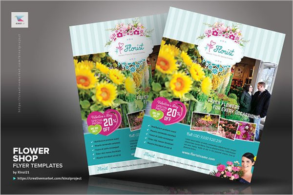 Retro Flower Shop Flyer Design