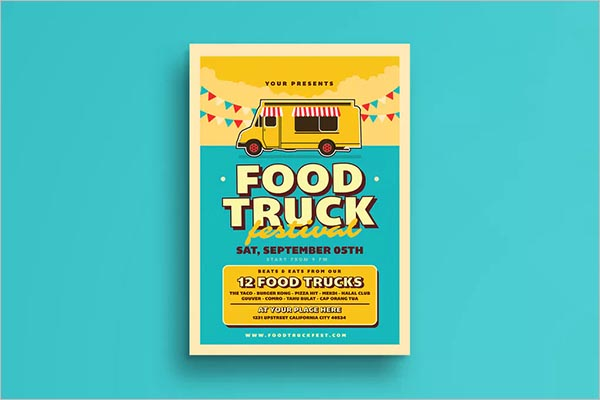 Retro Food Truck Flyer
