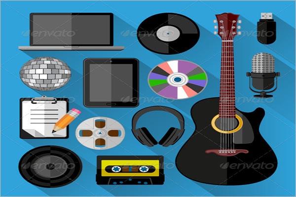 Retro Music Icon Design