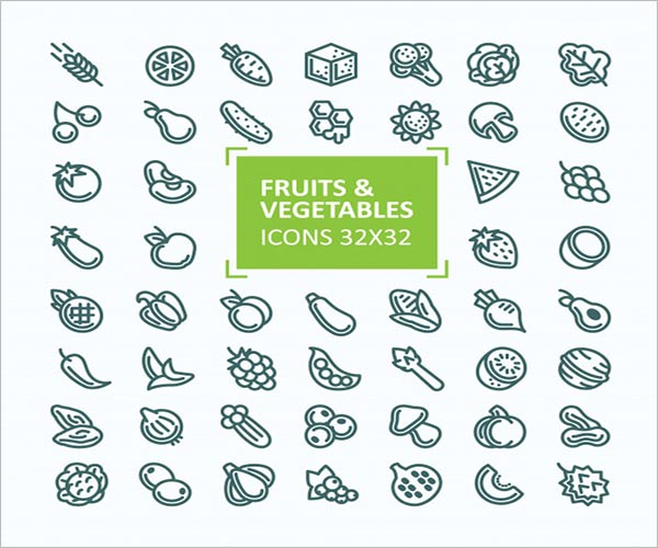 Retro Vegetable Icon Design