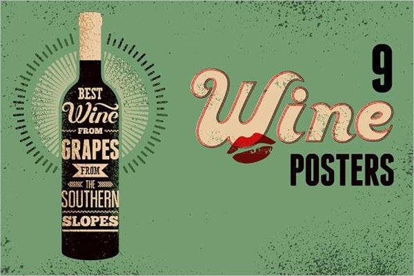 Retro Wine Poster Design