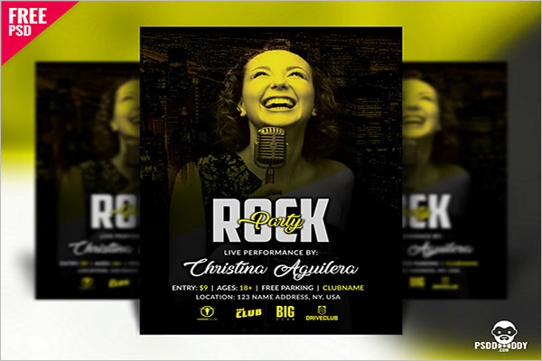 Rock Party Flyer Design