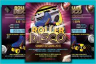 Roller Disco Flyer Design