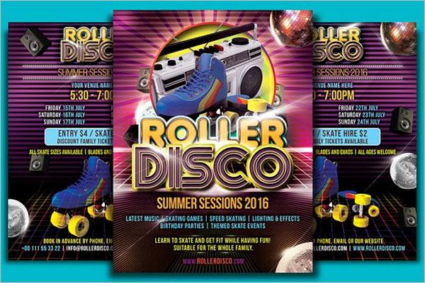 Roller Disco Flyer Design