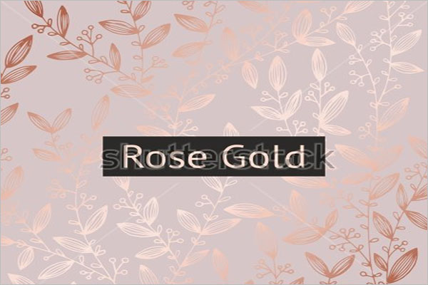 Rose Gold Design Illustraction