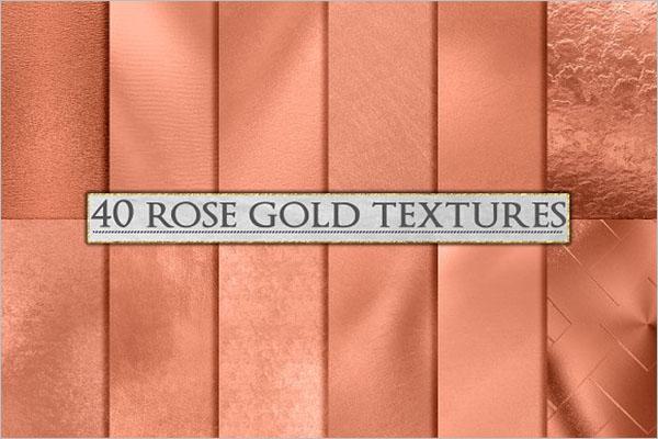Rose Gold Foil Background Design