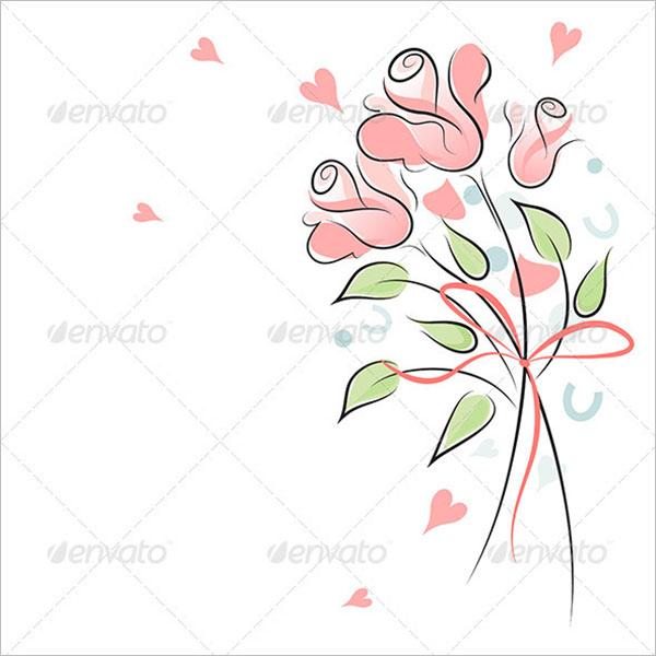 Rose Wedding Invitation Background