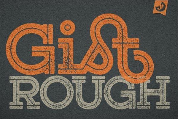 Rough Font Family Texture