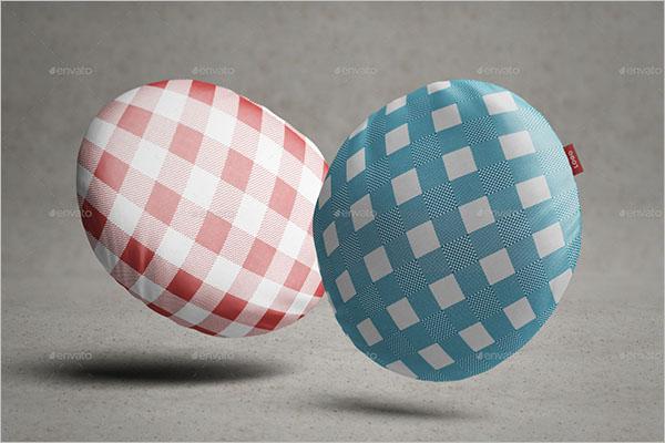 Round Pillow Mock-Up Design