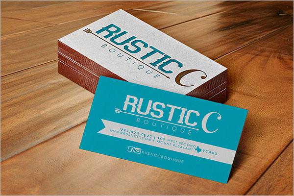 Rustic Boutique Business Card Design