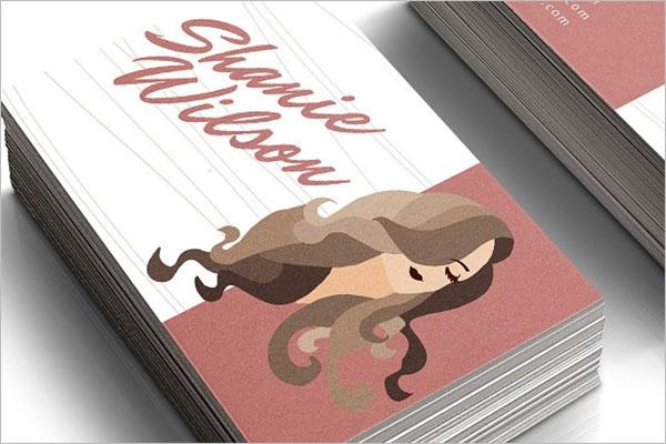 Saloon Visiting Card Design