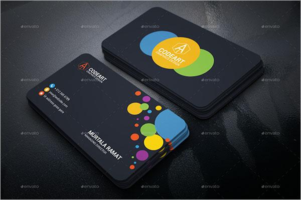 Sample Artistic Business Card