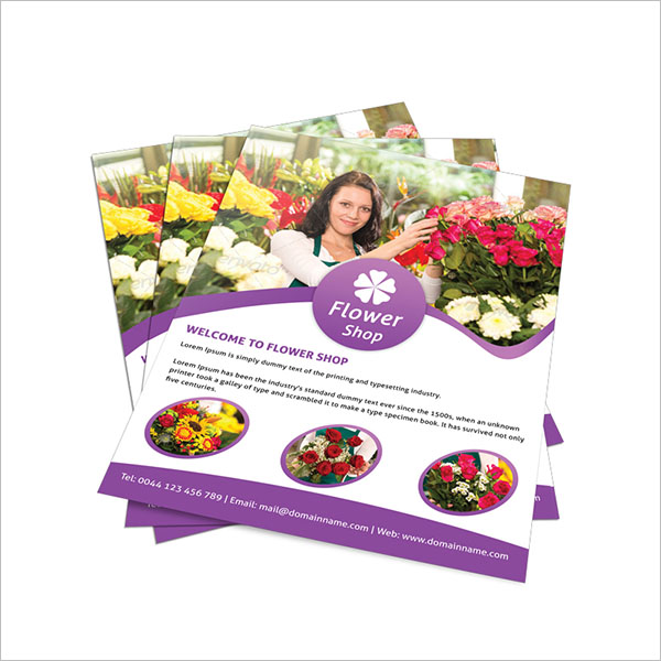 Sample Flower Shop Flyer Template