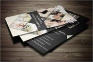 Sample Wedding Business Card Design