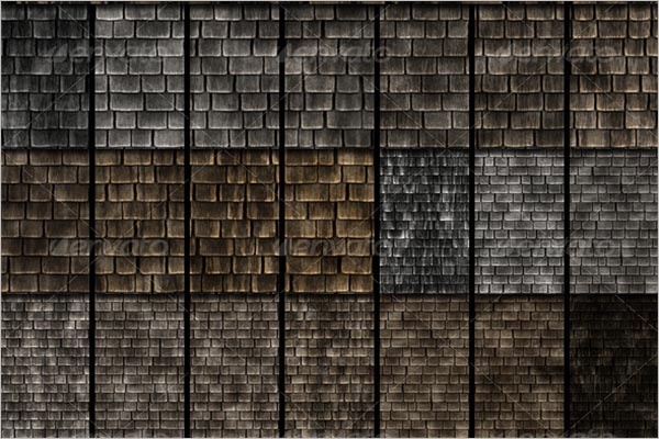 Seamless Wooden Roof Texture
