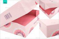 Set Of Cake Box Mockup