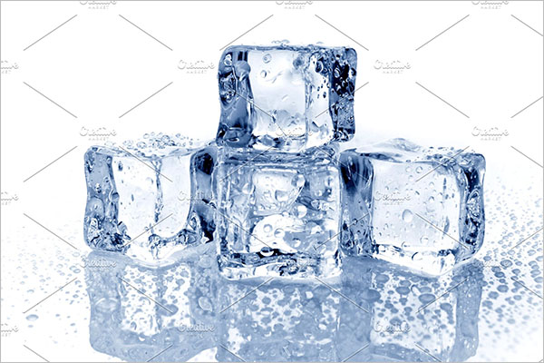 Set Of Ice Cube Background
