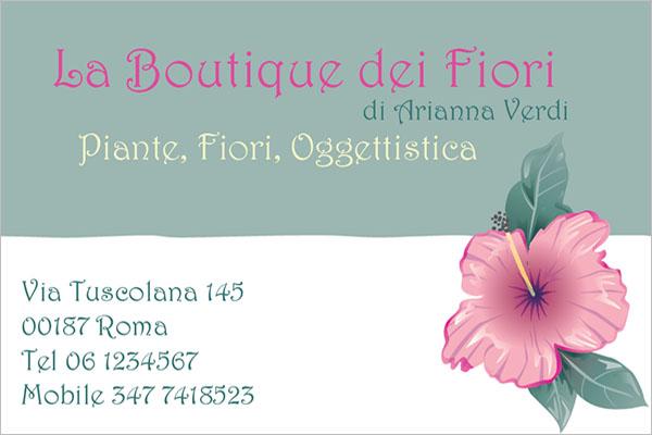 Simple Boutique Business Card Design