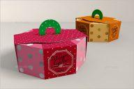 Simple Cake Box Mockup