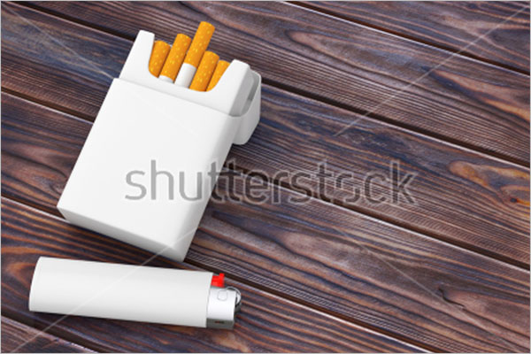 Simple Cigarette Package Mockup