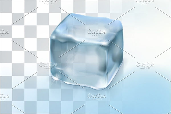Simple Ice Cube Background