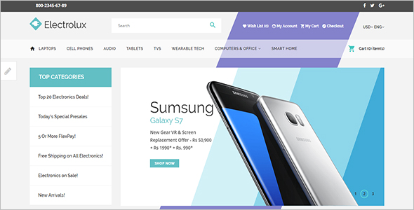 Simple Opencart Store Template