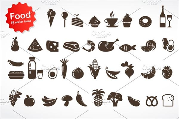 Simple Sea Food Icons