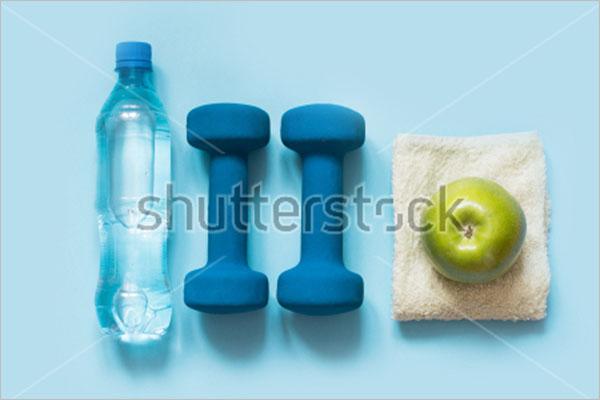 Simple Sports Bottle Mockup