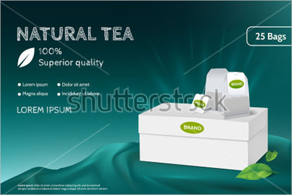 Simple Tea Box Mockup
