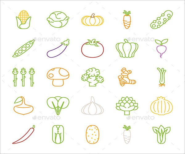 Simple Vegetable Icon Design