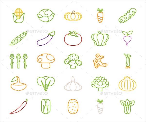 Simple Vegetable Icon Design