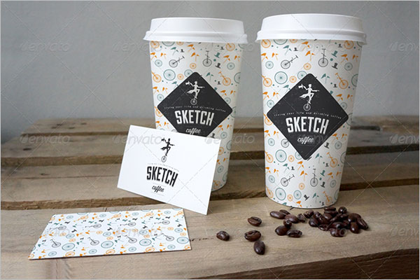 Sketch Coffee Cup Branding Mockup