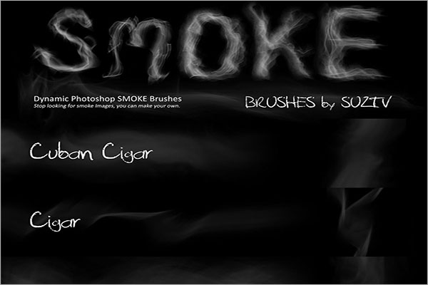 Smoke Brushes Photoshop Example