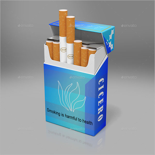 Smoking Cigarette Mockup Design