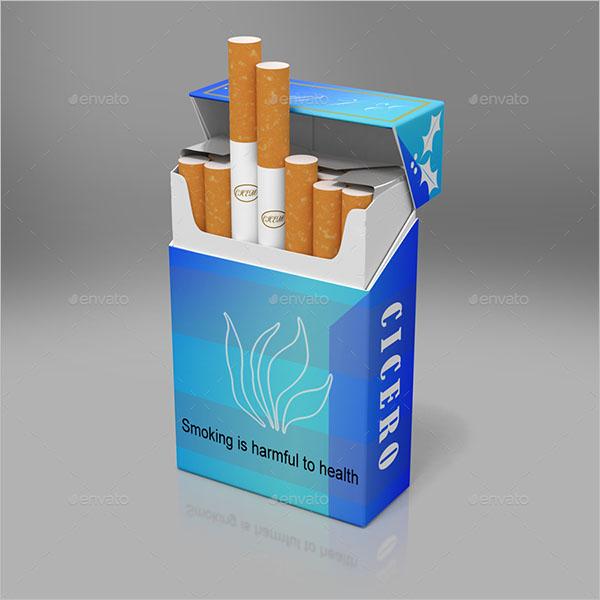 Smoking Cigarette Mockup Design