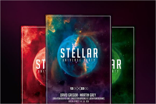 Space Nightclub Flyer Template