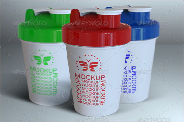 Sport Blender Mixer Bottle Mockup