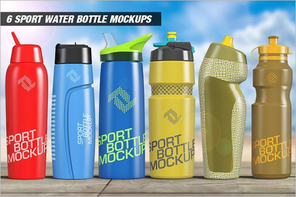 Sport Water Bottle Mockups Bundle