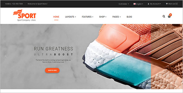 Sports E-commerce Opencart Theme