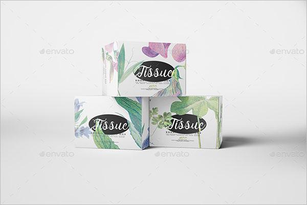 Square Tissue Box Mockup Template