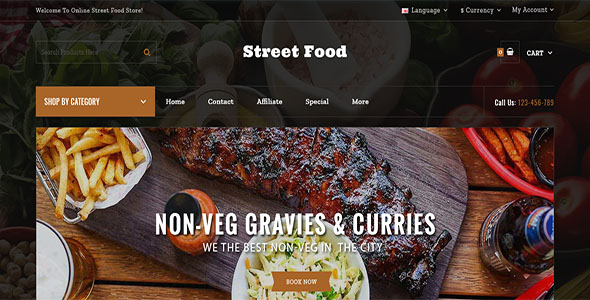 Street Food Store OpenCart Template