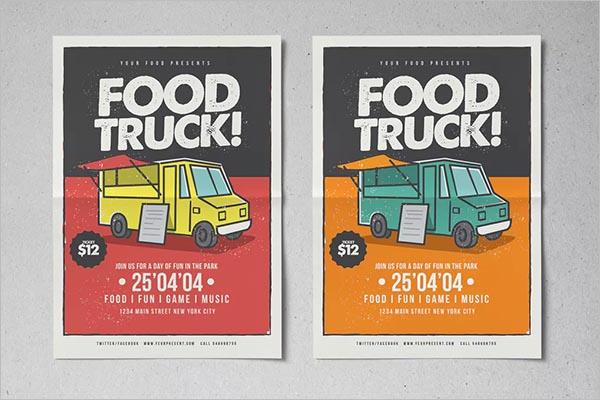 Street Food Truck Flyer