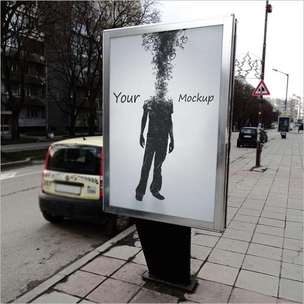 Street Poster Mockup Design