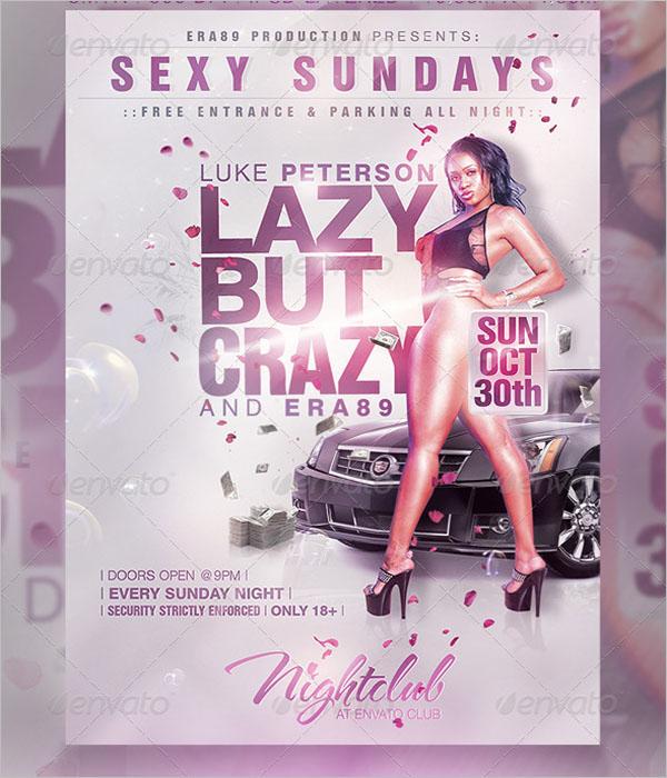 Sunday Nightclub Party Flyer